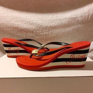 Red Bottoms Platform Wedge Slide Sandal 9w/26cm